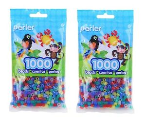 2 Pack Perler Beads Fuse Beads for Crafts, 2000pcs, Pick Your Colors