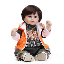 Lifelike Reborn Baby Dolls Soft Silicone Weighted 22inch Lovely Toddler Play Toy
