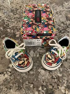 Vans Off the Wall Nintendo MARIO & LUIGI Baby Toddler Kids Shoes Used Size T 4