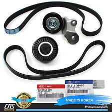 V-Ribbed Belt & Tensioner Pulley Kit Fits 03-06 Hyundai Santa Fe Kia Amanti 3.5L