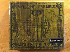 Mylene Farmer Mylenium Tour RARE 2 CD +Book Limited Edition Emboss/Gold - NEW