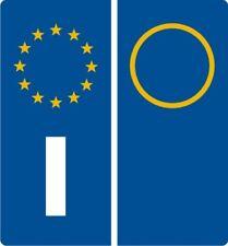 2 ADESIVI AUTO ETICHETTE RIFRANGENTI  LATERALI TARGA EUROPA EUROPA