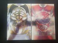 Mighty Morphin Power Rangers #40 and 41 Foil Variants 1st Omega Rangers