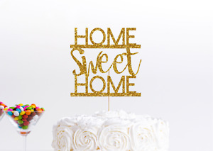 New Home Cake Topper Congratulations Home Sweet Home Home Owner Cake Decoration