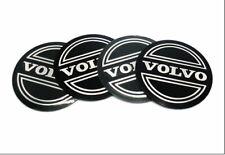 4x Sticker 56mm Volvo Black/silver Wheel Centre Cap Hub Caps Sticker Logo UK