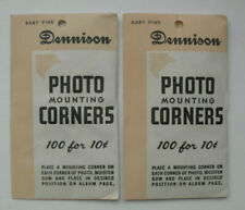 Vintage Dennison Photo Mounting Corners Baby Pink 2 Packages of 100