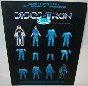 Discs Of Tron Arcade FLYER 1983 Original Video Game Foldout Space Sci-Fi Artwork
