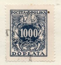 Poland 1930 Early Issue Fine Used 1000m. Postage Due 133456