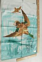 Vintage linen towel Mallard Ducks New 28.5x19 From France Great gift for hunter