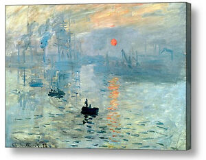 Sunrise by Claude Monet 1872 Canvas Art Photo Print  A4, A3, A2, A1