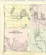 1881 map Devereux, Beddington, Cherryfield (Township No. 11), Deblois, Maine