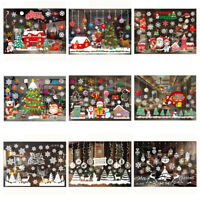 Christmas Window Xmas Snowflake Reindeer Santa Claus Window Stickers