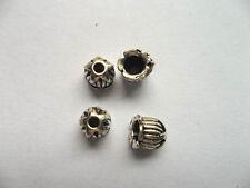 40pcs beautiful Tibet silver Flower End Beads Caps 6x6.5mm