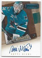 2013-14 Panini Contenders autographed hockey card Antti Niemi San Jose Sharks