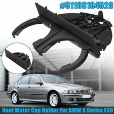 Black Rear Dual Drink Cup Holder For BMW 5 Series E39 Retractable #51168184520