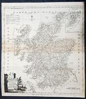 1770 Thomas Kitchin Large Antique Map of Scotland