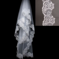 3M Cathedral Length Lace Edge Bride Wedding Bridal Veil Long Trails White IN USA
