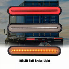 """1PC 9"""" Smoke Red/Amber 100 LED Stop Turn Tail Brake Sequential Signal Halo Light"""