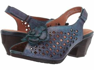 HTF! L'ARTISTE SPRING STEP LOVELLA BLUE SLINGBACK SANDALS SHOES WOMEN'S 39 8.5 !