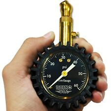 RHINO USA Heavy Duty Tire Pressure Gauge (60 PSI)