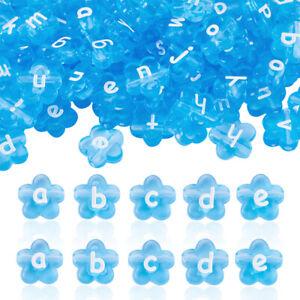 100pcs Transparent Acrylic Heart Letter Beads Alphabet Loose Spacer 10.5x11.5mm
