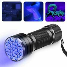 UV Flashlight Black Light Flashlight Ultraviolet LED Pet Urine Stains Detector