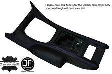 PURPLE STITCH CONSOLE GEAR SURROUND LEATHER COVER FITS NISSAN 300ZX Z32 90-96
