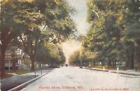 Oshkosh Wisconsin~Home with Arrow-Shaped Entryway to Porch on Algoma St~c1910 PC