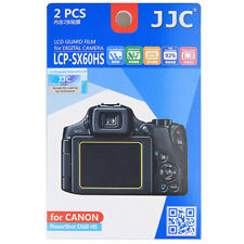 2x Film LCD Screen Display H3 Hard Protection for Canon PowerShot SX60 HS