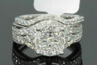 Round Cut Diamond 3.00Ct Engagement Wedding Ring Set 14k White Gold Fn