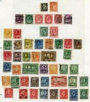 CANADA  SELECTION OF USED STAMPS ON PAGES  AS SHOWN
