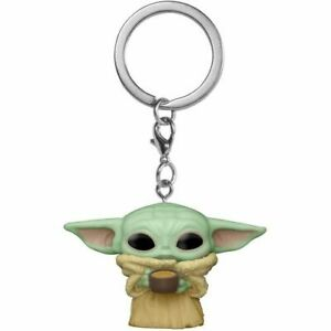 """The Mandalorian The Child (Baby Yoda) with Cup Pocket 2"""" Pop! Vinyl Keychain"""