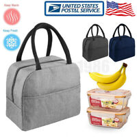 Portable Zipper Lunch Bag Food Storage Thermo Bag Picnic Tote For Men Women US
