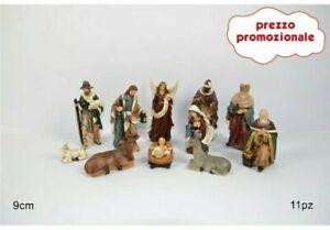 Natività Resina 9 cm completa 11 pezzi,articolo 5753 marca Due Esse Christmas