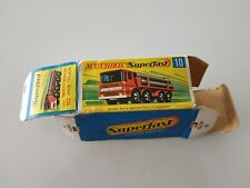Matchbox Superfast #10 Pipe Truck Original Empty Box Only