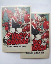 Russian Soviet USSR Go Canada Team Hockey 2 Postcard Mike Walton Marc Tardif 74