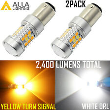 1157 Bi-Color Switch LED White Parking Light Bulb|Yellow Turn Signal Light Bulb