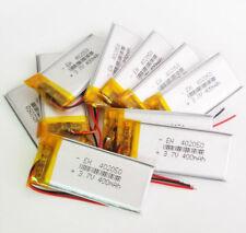 10 x 3.7V 400mAh 402050 Lipo Polymer Battery cells For mp3 MID DVD GPS bluetooth