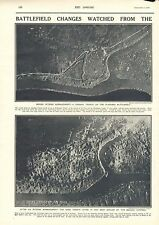1917 ANTIQUE PRINT- WW1-BATTLEFIELD CHANGES WATCHED FROM THE AIR, 2 PRINTS
