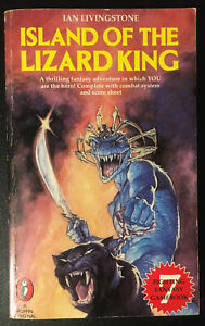 Island of the Lizard King Fighting Fantasy #7 1984 1st/2nd Star Cover VG