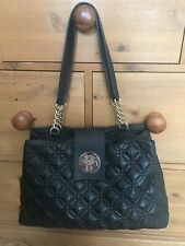 Kate Spade Elena Bag in Black Quilted Leather Golden Metal Chain Handle &  D Bag
