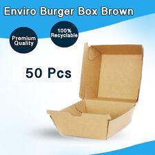 Burger Box Enviro 50 Pc Snack Takeaway chicken, chips large, fish Bulk Buy