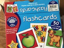 Orchard toys 50 Xtra Large flash cards for toddlers