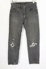 Vtg Levis 501 Button Fly Denim High Waisted Boyfriend Jeans Usa Women's 26x33