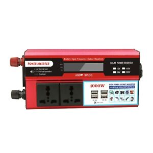 4000W 12V 220V Dc To Ac Modified Sine Wave Voltage Converter Power Car Inverter