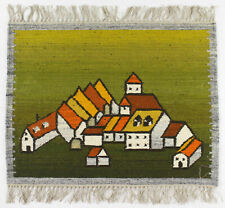 A vintage Polish folk art wall hanging / rug New old stock Architectural