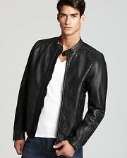 NEW DIESEL LEATHER JACKET L THEMAL Black $598 Men's jacket size L