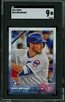 KRIS BRYANT 2015 Topps #616 RC Rookie (Cubs) SGC 9 MT