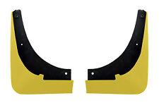 C6 Corvette Painted Rear Mud Flap Splash Guards - Velocity Yellow 45 G8A WA300N