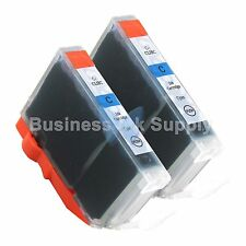 2 CYAN CLI-8 CLI-8C Ink Tank for Canon PIXMA MX700 IP3300 IP3500 CLI-8 CLI-8C